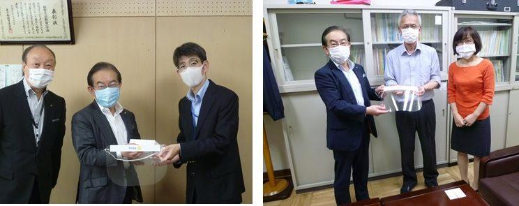 小学校へ新型コロナウイルス対策関連活動